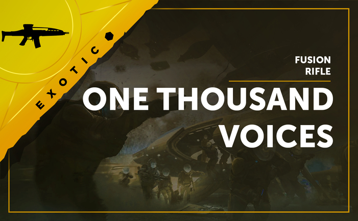 One Thousand Voices - Exotic Fusion Rifle in Destiny 2