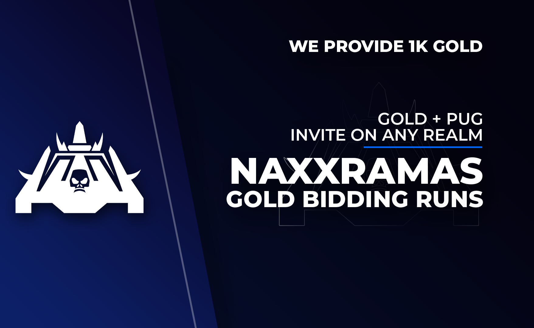 Naxxramas Gold Bid Run - 1000 Gold